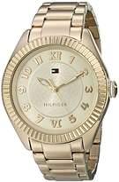 Tommy Hilfiger Women's 1781345 Casual Sport -Plated Coin Edge Bezel Watch