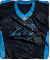 Northwest Company Carolina Panthers Jersey Plush Raschel Throw
