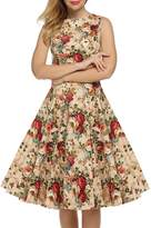 Lettre d'amour Women's 1940s Vintage Sleeveless Swing Party Dress M