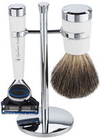 Gentleman London NEW Davies White Razor & Shaving Brush Stand