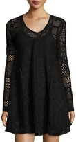 Romeo & Juliet Couture Lace A-line Dress, Black