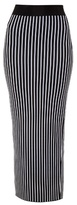Christopher Kane Striped double-knit jersey maxi pencil skirt