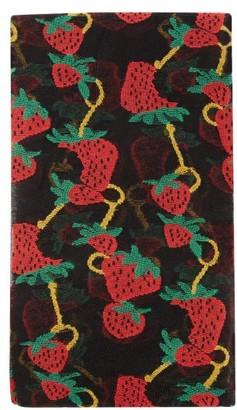 Gucci Strawberry-jacquard Tights - Black Print