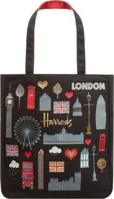 Harrods London Glitter Tote Bag