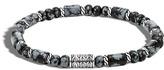 John Hardy Classic Chain Bead Bracelet with Snowflake Obsidian
