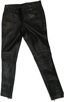 Oakwood Black Leather Trousers for Women