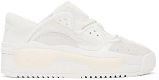 Y-3 White Hokori II Sneakers