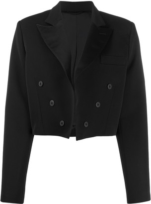 ATTICO Cropped Double-Breasted Blazer