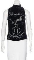 Hermes Logo Burnout Sleeveless Top