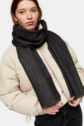 Topshop Womens Charcoal Grey Featherweight Scarf - Charcoal