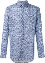 Canali floral print slim-fit shirt - men - Linen/Flax - S