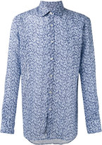 Canali floral print slim-fit shirt