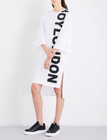 Boy London Logo-print cotton-jersey dress