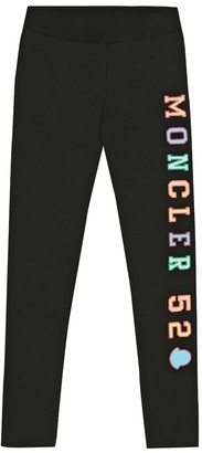 Moncler Enfant Logo stretch-cotton leggings