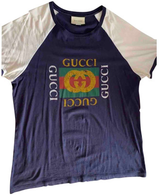 Gucci Blue Cotton T-shirts