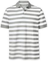 Charles Tyrwhitt Grey and White Stripe Pique Cotton Polo Size Large