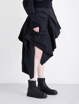 Yohji Yamamoto Gathered asymmetric high-rise woven skirt