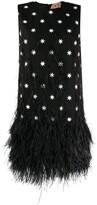 No.21 star print fringed dress
