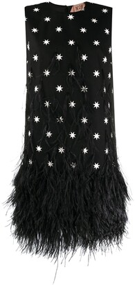 No.21 Star Print Fringed Dress
