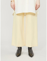 The Row Vestiaire Collective wide-leg high-rise stretch-wool trousers