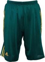 adidas Mens 3 Stripe Mesh 2 in 1 Long Running Shorts Green/Bold Gold