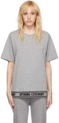 Opening Ceremony Grey Elastic Logo T-Shirt