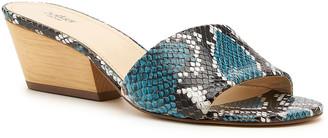 Botkier Carlie Snake-Print Slide Sandals