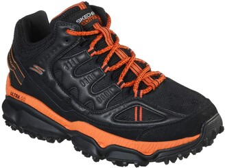 Skechers GOtrail Yeti Glarus - Performance Trail and Hiking Shoe Black/Orange
