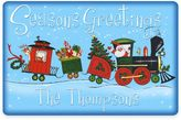 "Weather GuardTM 17.5-Inch x 26.5-Inch ""Seasons Greetings"" Santa's Train Door Mat"