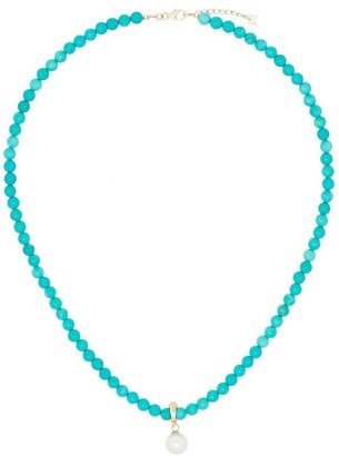 Mateo 14kt Yellow Gold Turquoise Beaded Necklace