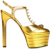 Gucci Angel leather platform sandals