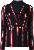 Tagliatore stripe print blazer - women - Cotton/Cupro - 42