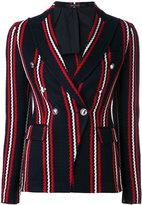 Tagliatore stripe print blazer - women - Cotton/Cupro - 44
