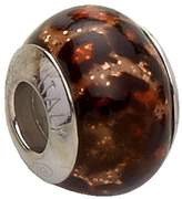 Bellissi Murano Venezia Murano Glass Charm Bead with Sterling Silver Fittings
