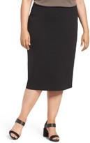 Eileen Fisher Plus Size Women's Foldover Waist Pencil Skirt