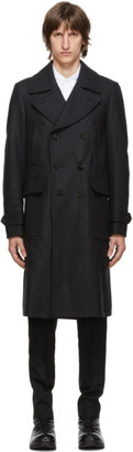 Belstaff Grey Wool Milford Coat