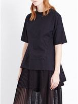 Izzue Pleated back poplin cotton t-shirt