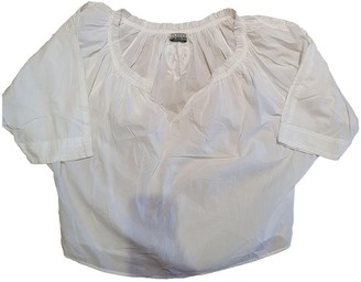 Closed White Cotton Top for Women