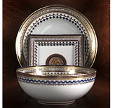 Mottahedeh Chinois Blue Square Tray