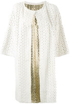 Yves Salomon perforated coat - women - Lamb Skin/Rabbit Fur - 38