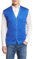 Kiton Cashmere-Blend Cardigan Vest, Royal