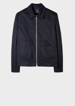 Men's Dark Navy Cropped Cotton Jacket
