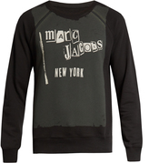 Marc Jacobs Logo-print cotton-blend jersey sweatshirt