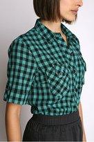 BDG Plaid Buttonfront Boyfriend Shirt