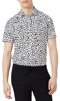 Topman Men's Dotty Print Shirt