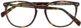 Lunor Round-Frame Tortoiseshell Sunglasses