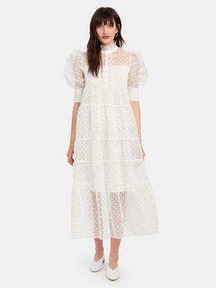 Birgitte Herskind Rio Puff Sleeve Midi Dress