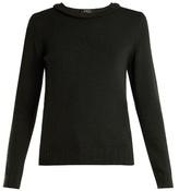 A.P.C. Ruffle-detail wool knit sweater
