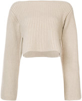 Khaite cashmere cropped sweater