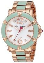Betsey Johnson BJ00459-16 - Rose Gold w/ Mint Enamel Watches